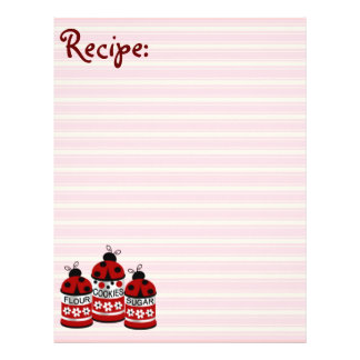 Flour Cookies Sugar Ladybug Recipe Paper Customized Letterhead