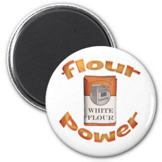 Flour Power Fridge Magnets