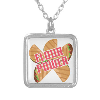 Flour Power Silver Plated Necklace