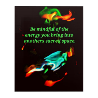 Flourescent Flames Mindful Energy InspirationalSpr Acrylic Print