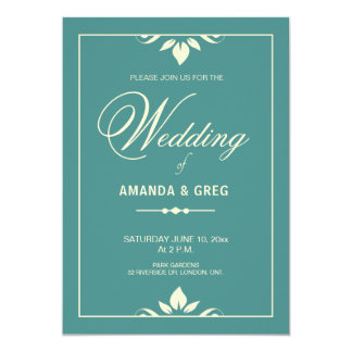 Flourish Border Wedding Invitations
