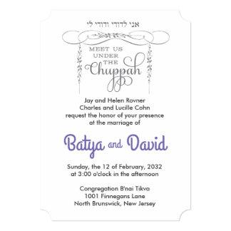 Flourish Chuppah - Jewish Wedding Invitation