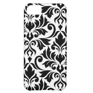 Flourish Damask Art I Black on White iPhone 5C Cover