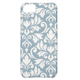 Flourish Damask Art I Cream on Blue Cover For iPhone 5C