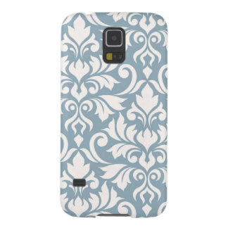 Flourish Damask Art I Cream on Blue Galaxy S5 Case