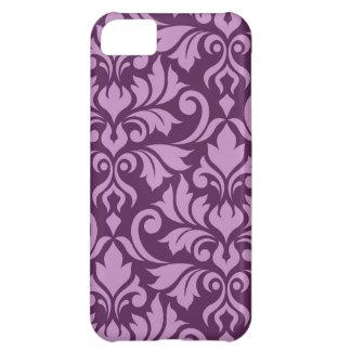 Flourish Damask Art I Pink on Plum Case For iPhone 5C