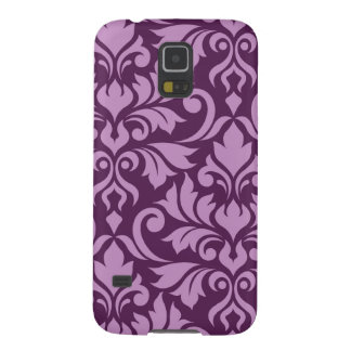 Flourish Damask Art I Pink on Plum Galaxy S5 Case