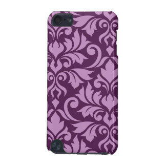 Flourish Damask Art I Pink on Plum iPod Touch (5th Generation) Covers