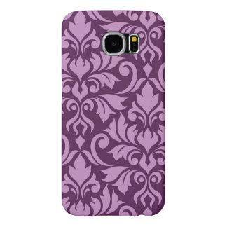 Flourish Damask Art I Pink on Plum Samsung Galaxy S6 Case