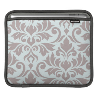 Flourish Damask Art I Taupe on Duck Egg Blue iPad Sleeve