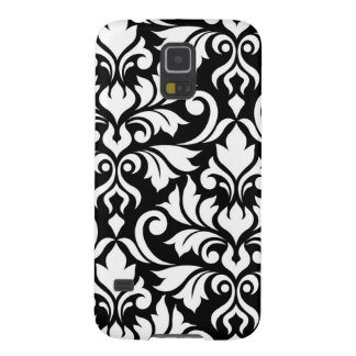 Flourish Damask Art I White on Black Galaxy S5 Case