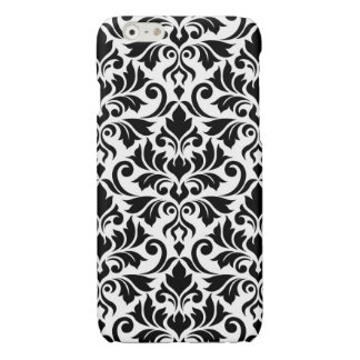 Flourish Damask Big Pattern Black on White
