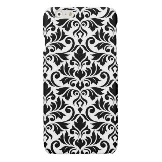 Flourish Damask Big Pattern Black on White