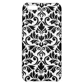 Flourish Damask Big Pattern Black on White Case For iPhone 5C