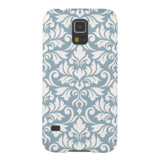 Flourish Damask Big Pattern Cream on Blue Case For Galaxy S5