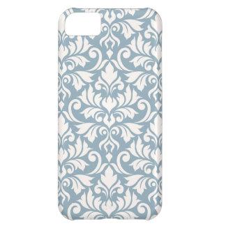 Flourish Damask Big Pattern Cream on Blue Cover For iPhone 5C