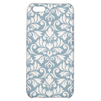 Flourish Damask Big Pattern Cream on Blue iPhone 5C Covers