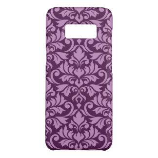 Flourish Damask Big Pattern Pink on Plum Case-Mate Samsung Galaxy S8 Case