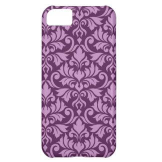 Flourish Damask Big Pattern Pink on Plum iPhone 5C Case