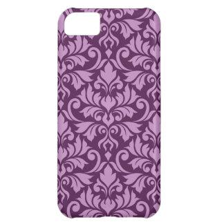 Flourish Damask Big Pattern Pink on Plum iPhone 5C Cover