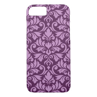Flourish Damask Big Pattern Pink on Plum iPhone 8/7 Case