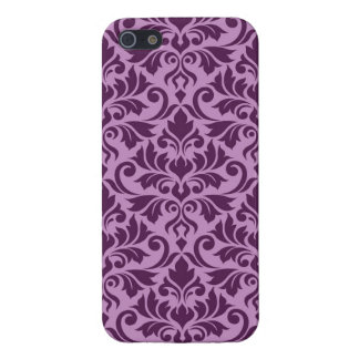 Flourish Damask Big Pattern Plum on Pink Case For iPhone 5/5S