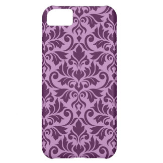 Flourish Damask Big Pattern Plum on Pink Cover For iPhone 5C