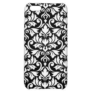 Flourish Damask Big Pattern White on Black iPhone 5C Case
