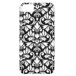 Flourish Damask Big Pattern White on Black iPhone 5C Cover