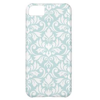 Flourish Damask Big Pattern White on Duck Egg Blue Case For iPhone 5C