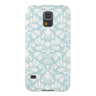 Flourish Damask Big Pattern White on Duck Egg Blue Galaxy S5 Cover