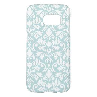 Flourish Damask Big Pattern White on Duck Egg Blue Samsung Galaxy S7 Case