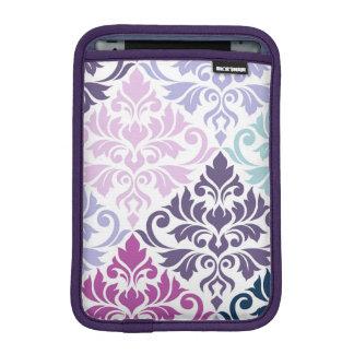 Flourish Damask (V) Art I Purples Pinks Blues Wt iPad Mini Sleeve