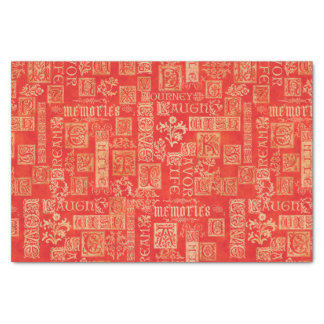 Flourish Design Verse Fall Colors Tissue Paper
