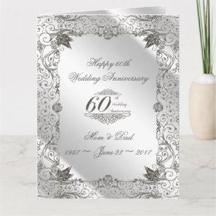 Flourish Diamond 60th Anniversary 8.5 X 11 Card