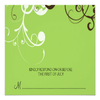 flourish; green reply card
