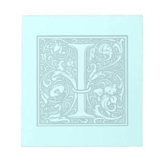 flourish monogram - I Notepad