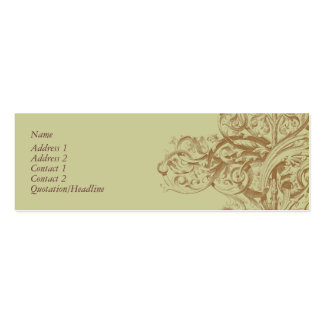 Flourish Profile Card Double-Sided Mini Business Cards (Pack Of 20)