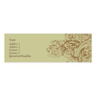 Flourish Profile Card Mini Business Card