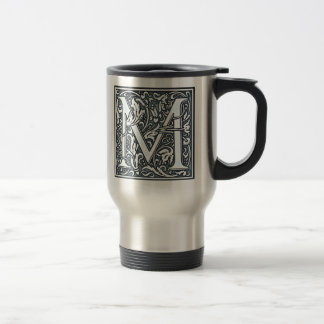 flourish silver monogram - M Travel Mug