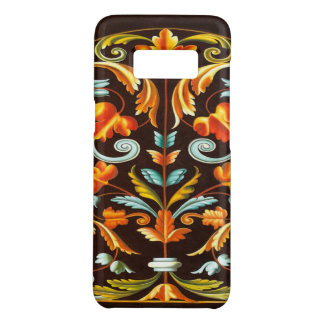 flourish swirls yellow orange autumn fall leaves Case-Mate samsung galaxy s8 case