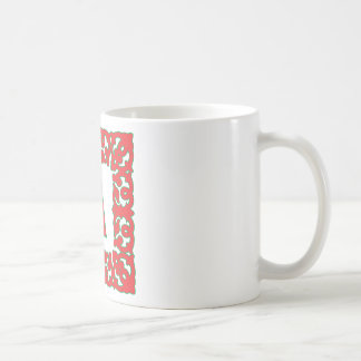 Flourished Red Framed Monogram A Basic White Mug