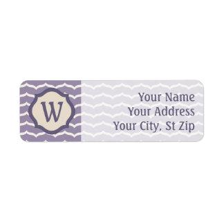 Flourished Zigzag Return Address Label
