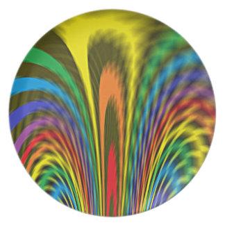 Flourishing Rainbow Plate