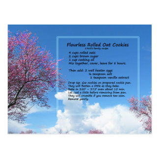 Flourless Oat Cookie Recipe Postcard