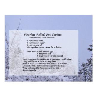 Flourless Oat Cookies Postcard