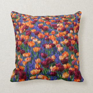 [FLOW-003] Flower field Throw Pillow