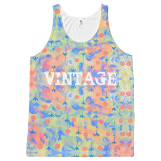 Flow flower All-Over-Print tank top