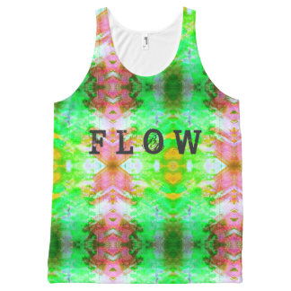 Flow Inked grunge All-Over-Print Tank Top