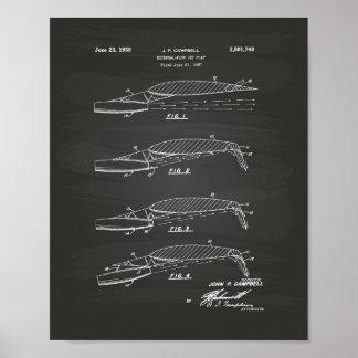 Flow Jet Flap 1957 Patent Art Chalkboard Poster